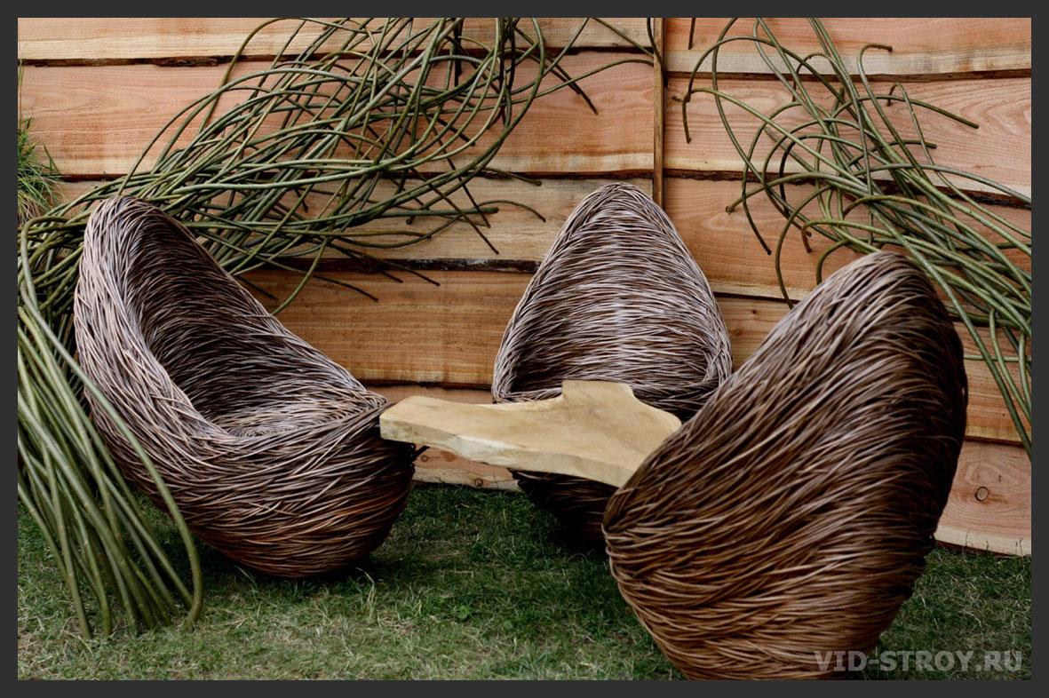 Мебель плетеная из ивы своими руками