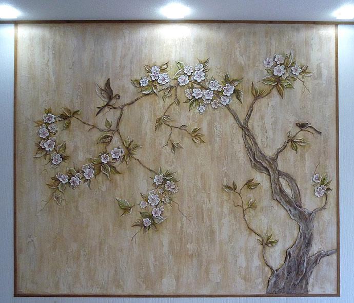 Как сделать лес на стене