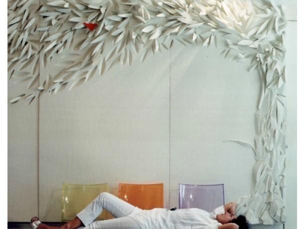 Как сделать дерево из штукатурки на стене