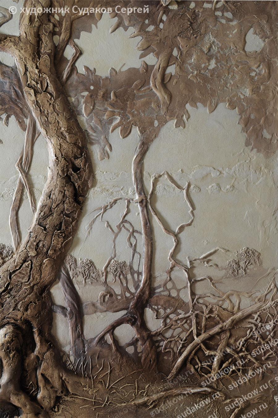 Как сделать декоративное дерево на стене своими руками