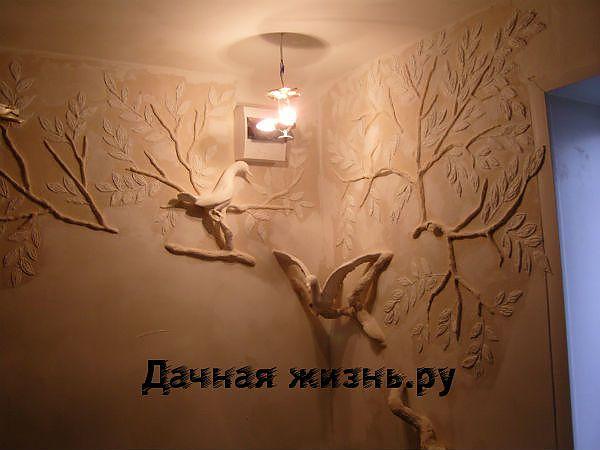 Стены из гипса своими руками