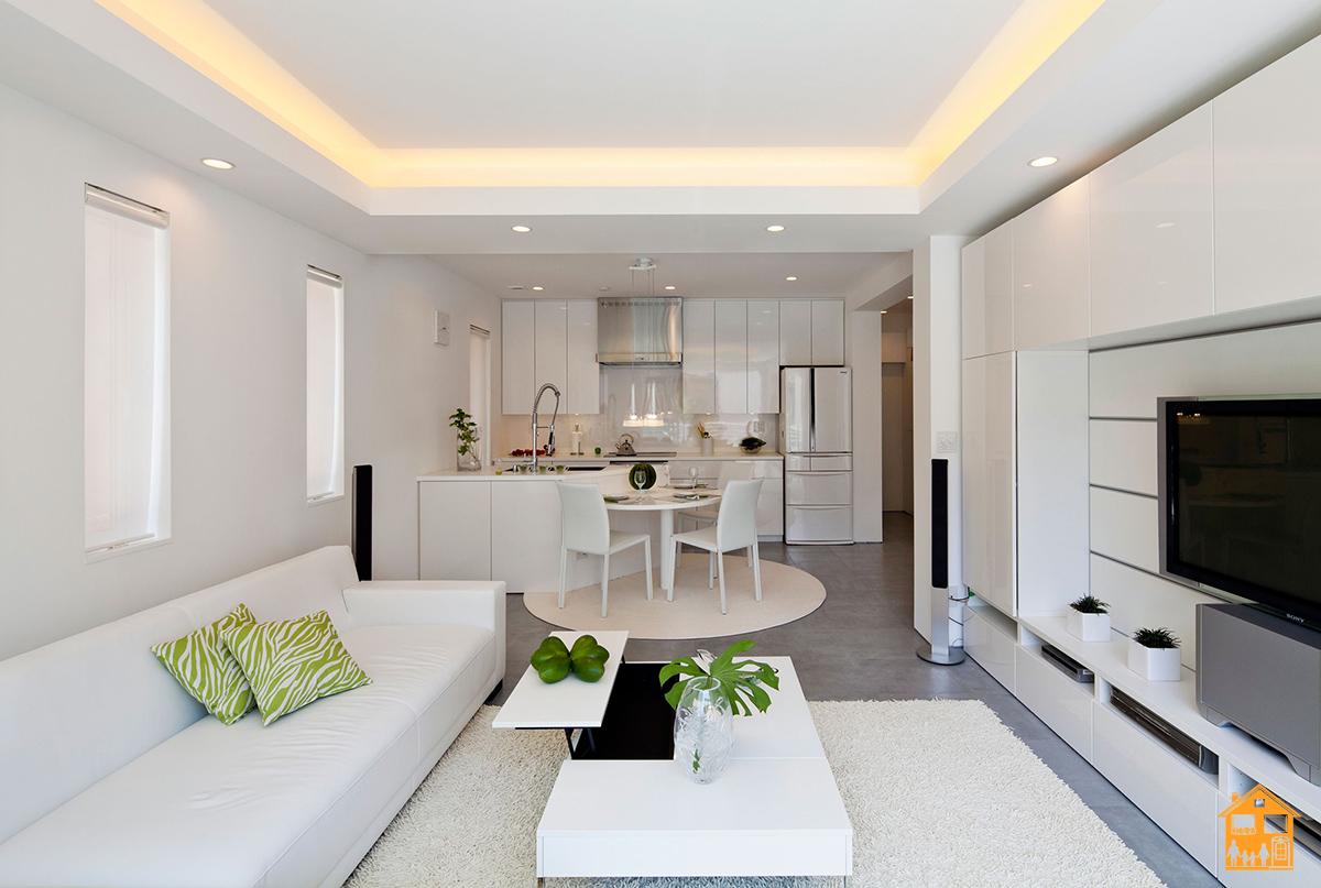 Дизайн кухни-столовой-гостиной 25 кв.м