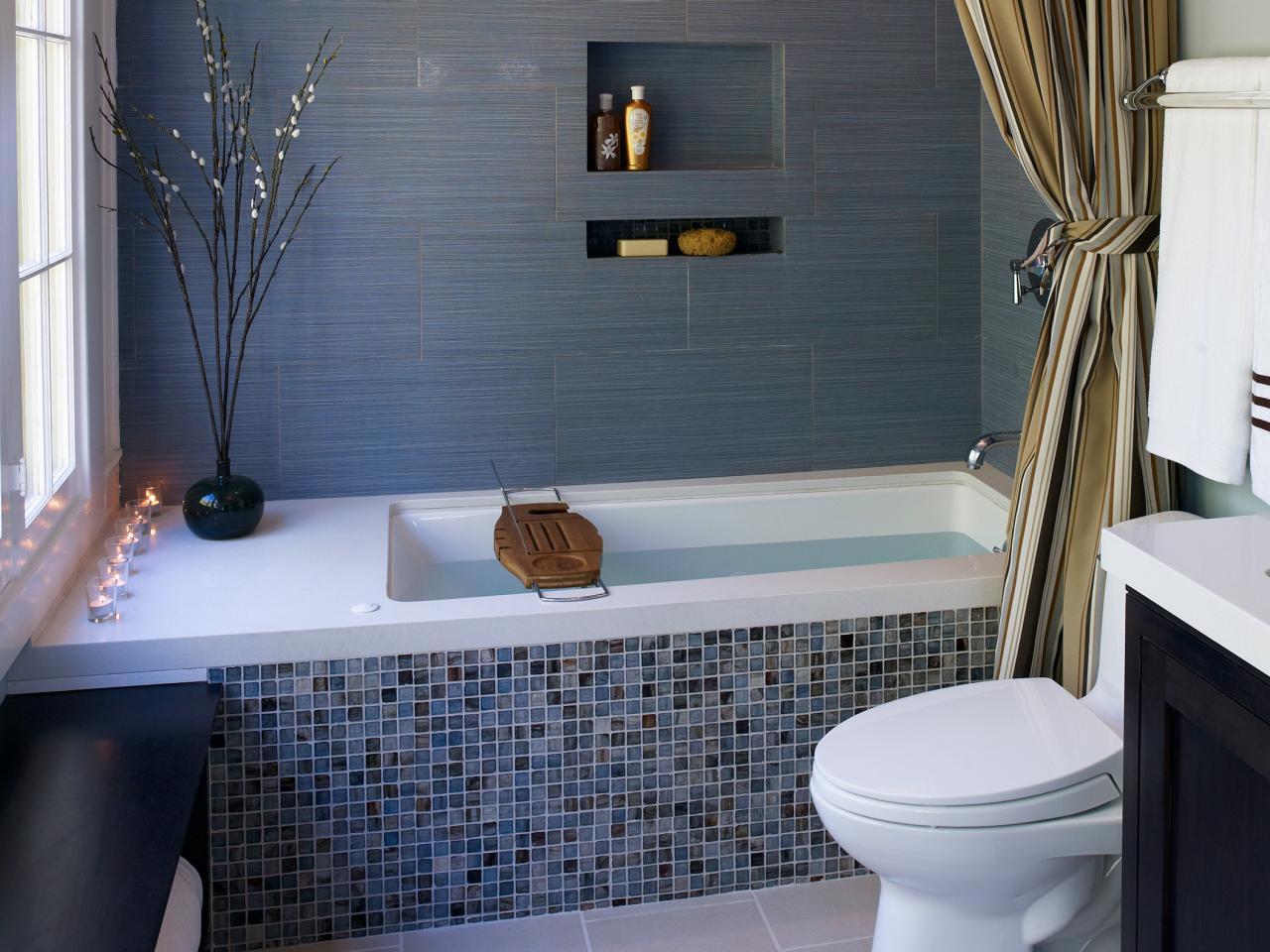 Дизайн ванны с мозаикой дизайн
