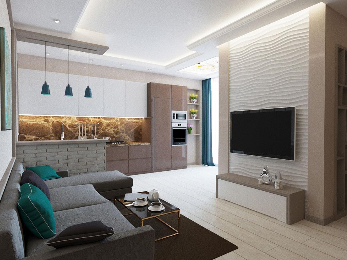 Интерьер трехкомнатной квартиры 85 кв.м фото