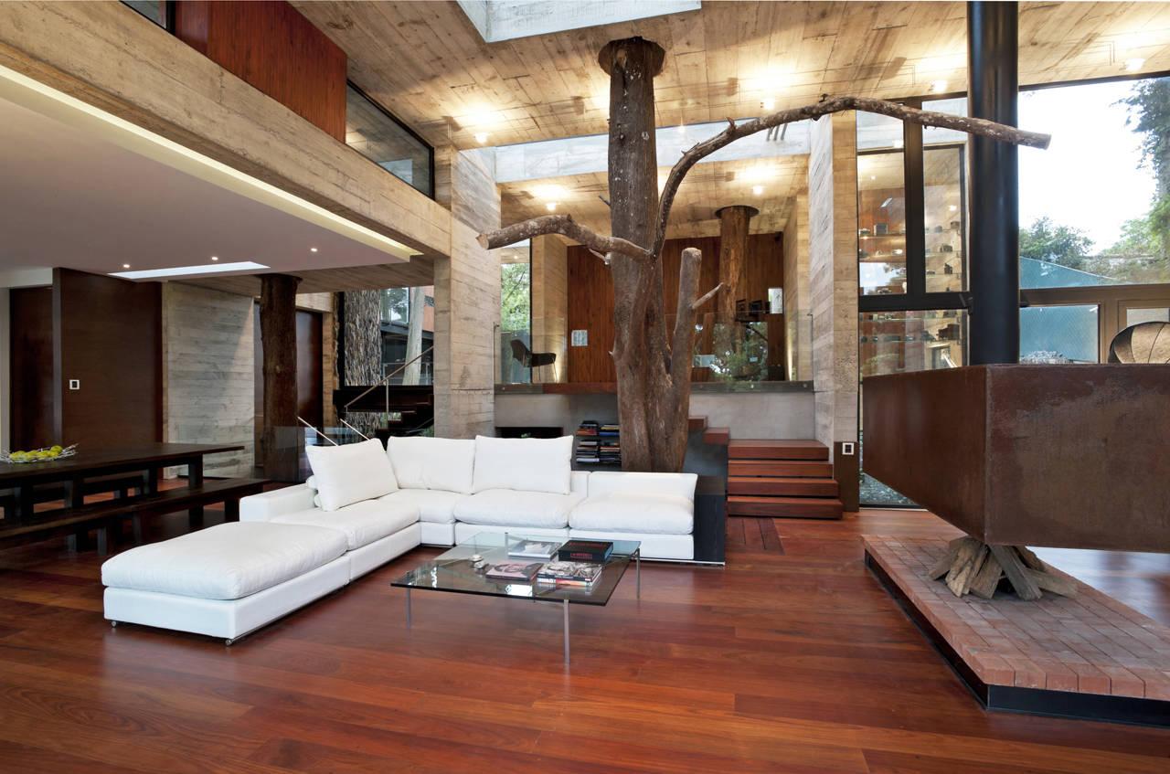 Дизайн внутри дома деревянного