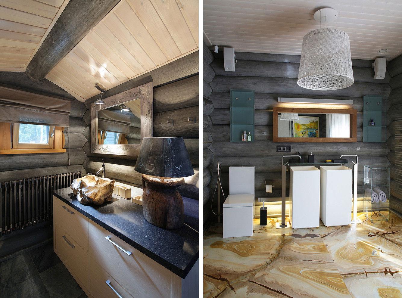 Белая кухня в деревянном доме фото