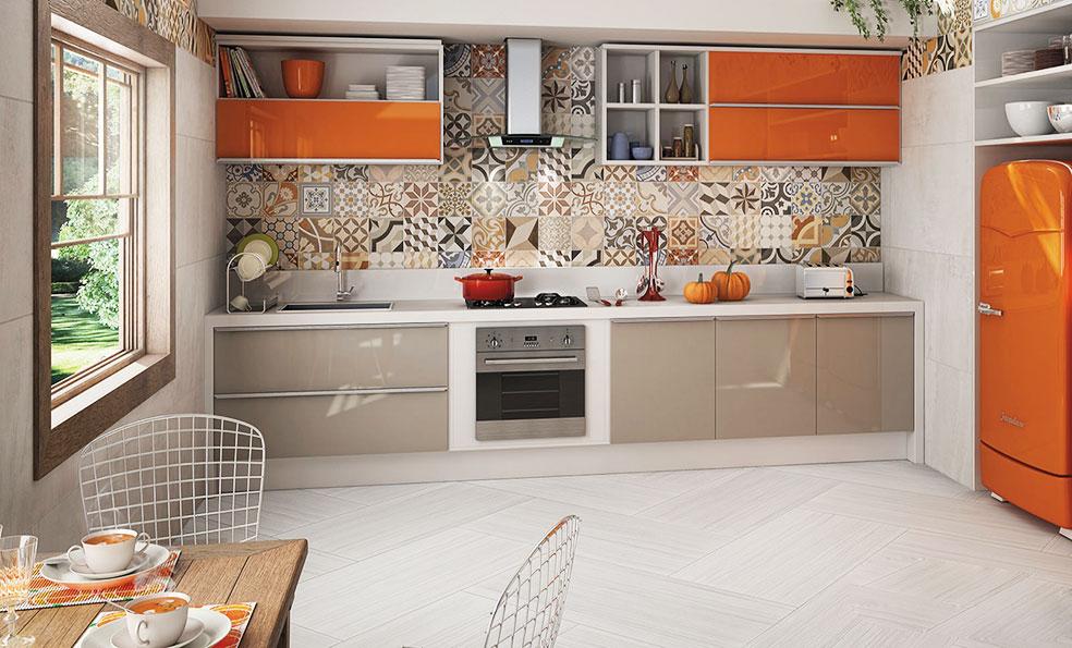 Кухня в стиле пэчворк