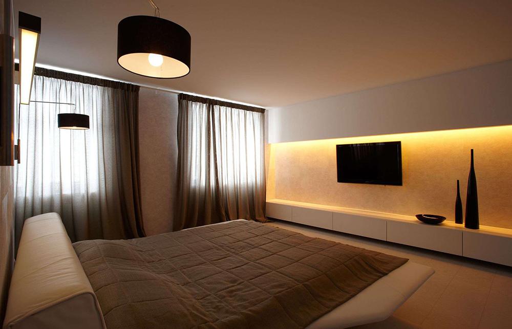 Интерьер спальни фото в стиле минимализм