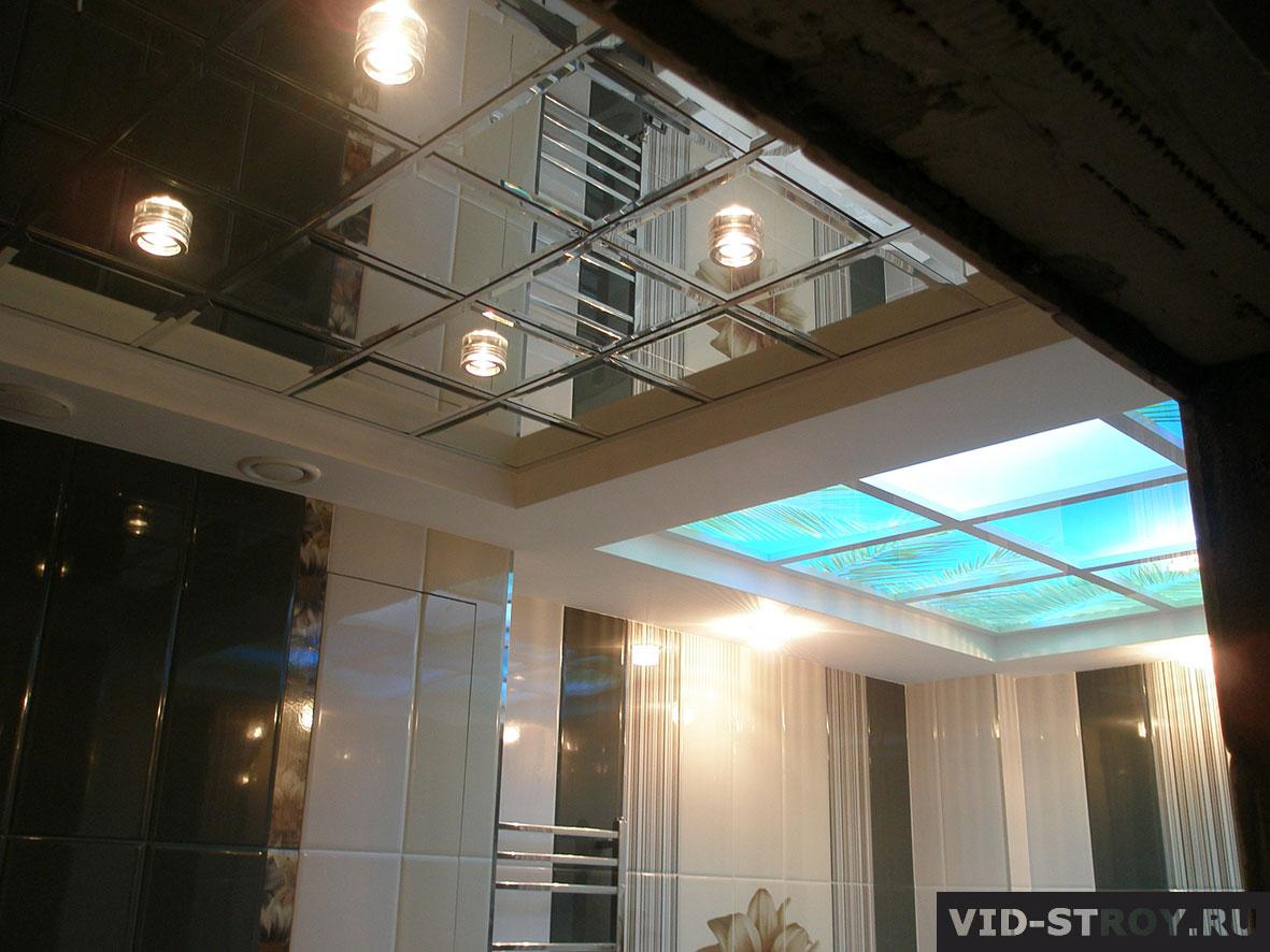 зкркальные подвесные потолки