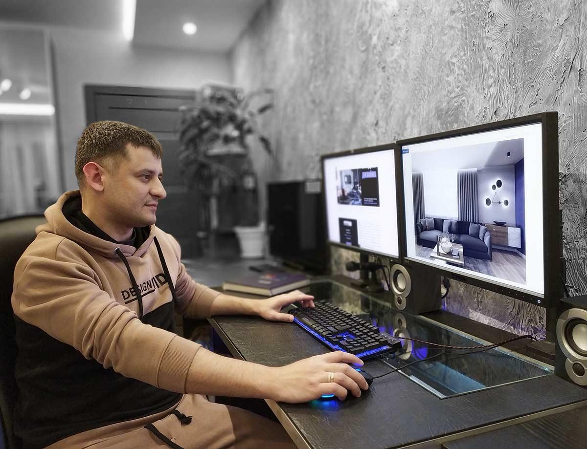 Дизайнер Арташов Денис за работой