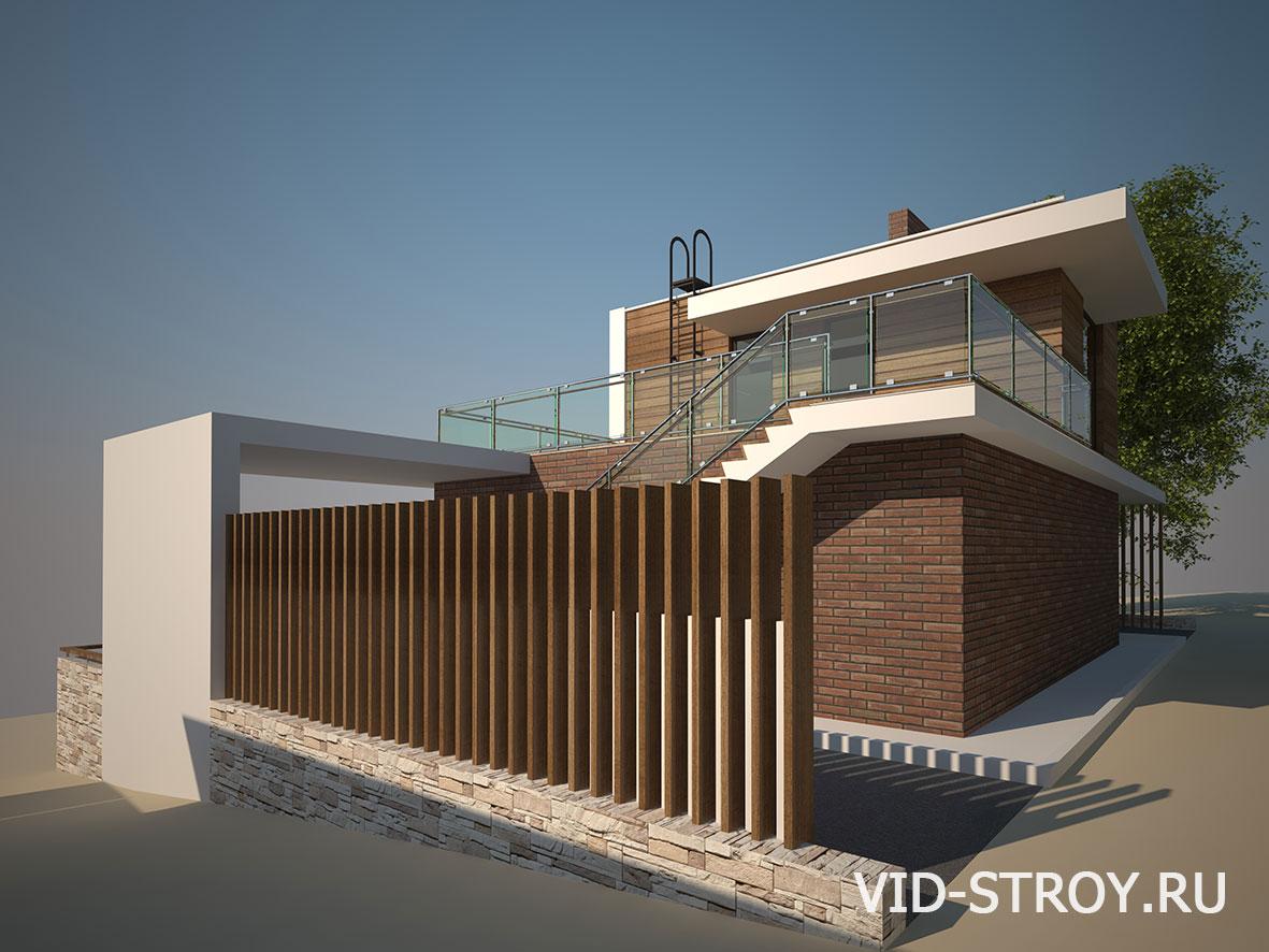 Дизайн фасада дома у реки Дон