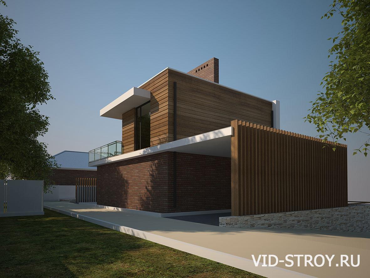 Дизайн фасада частного дома в Ростове-на-Дону