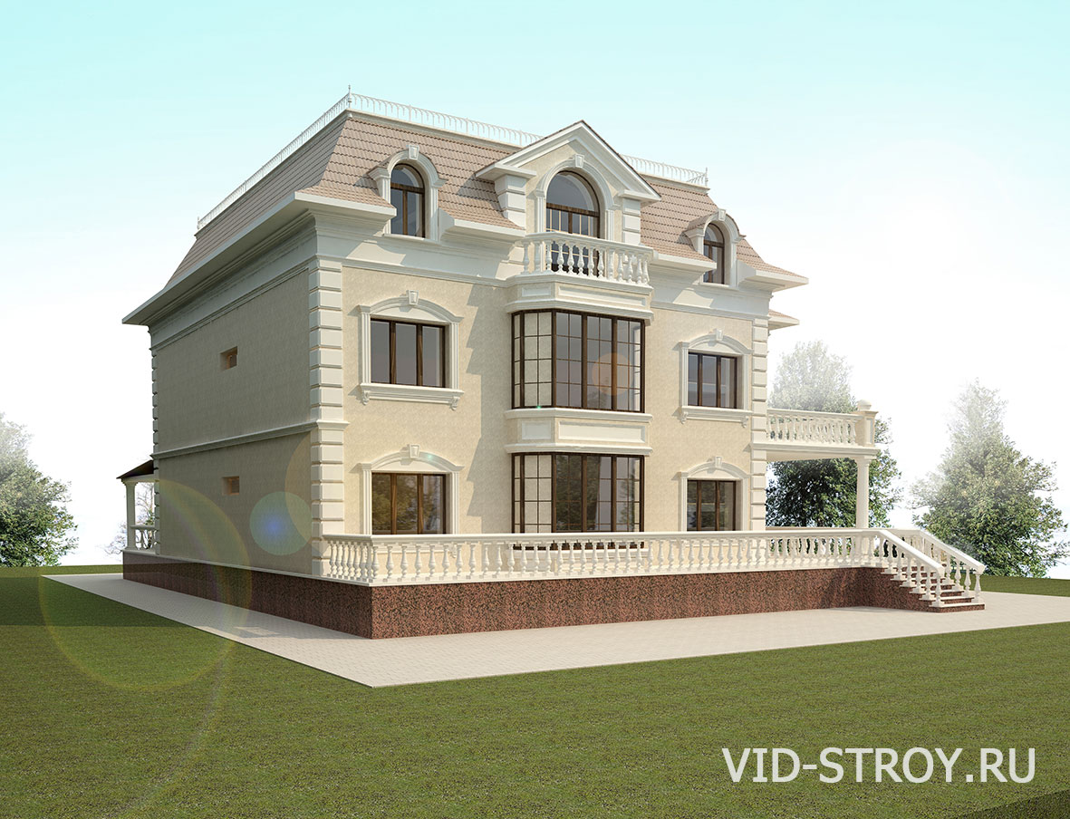 Дизайн фасада дома в классическом стиле