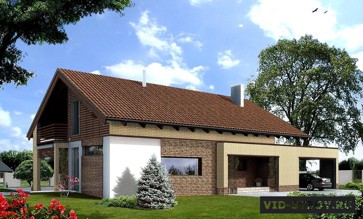 Дизайн фасада загородного дома в Ростове-на-Дону