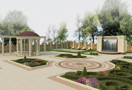 Дизайн фасада дома и прилегающей территории