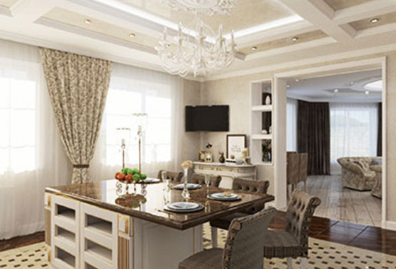 Интерьер дома в классике в Ростове