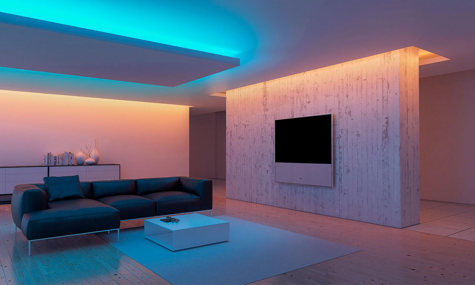 освещение квартиры светодиодной лентой