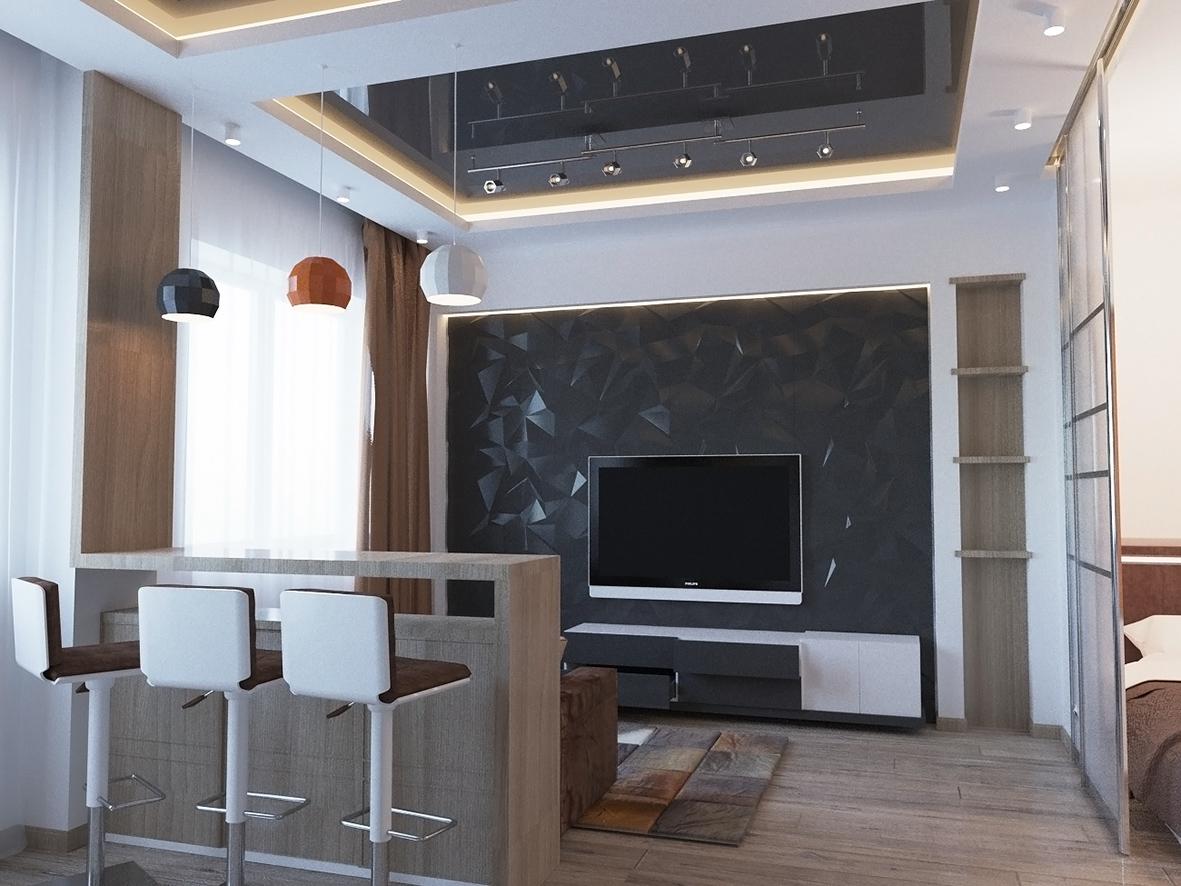 Дизайн интерьера однокомнатной квартиры в Ростове-на-Дону