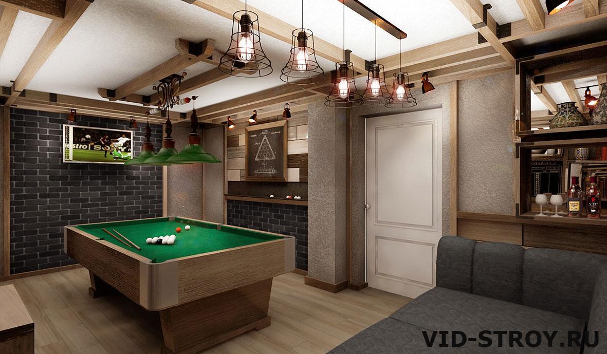 Дизайн бильярдной комнаты в Ростове-на-Дону