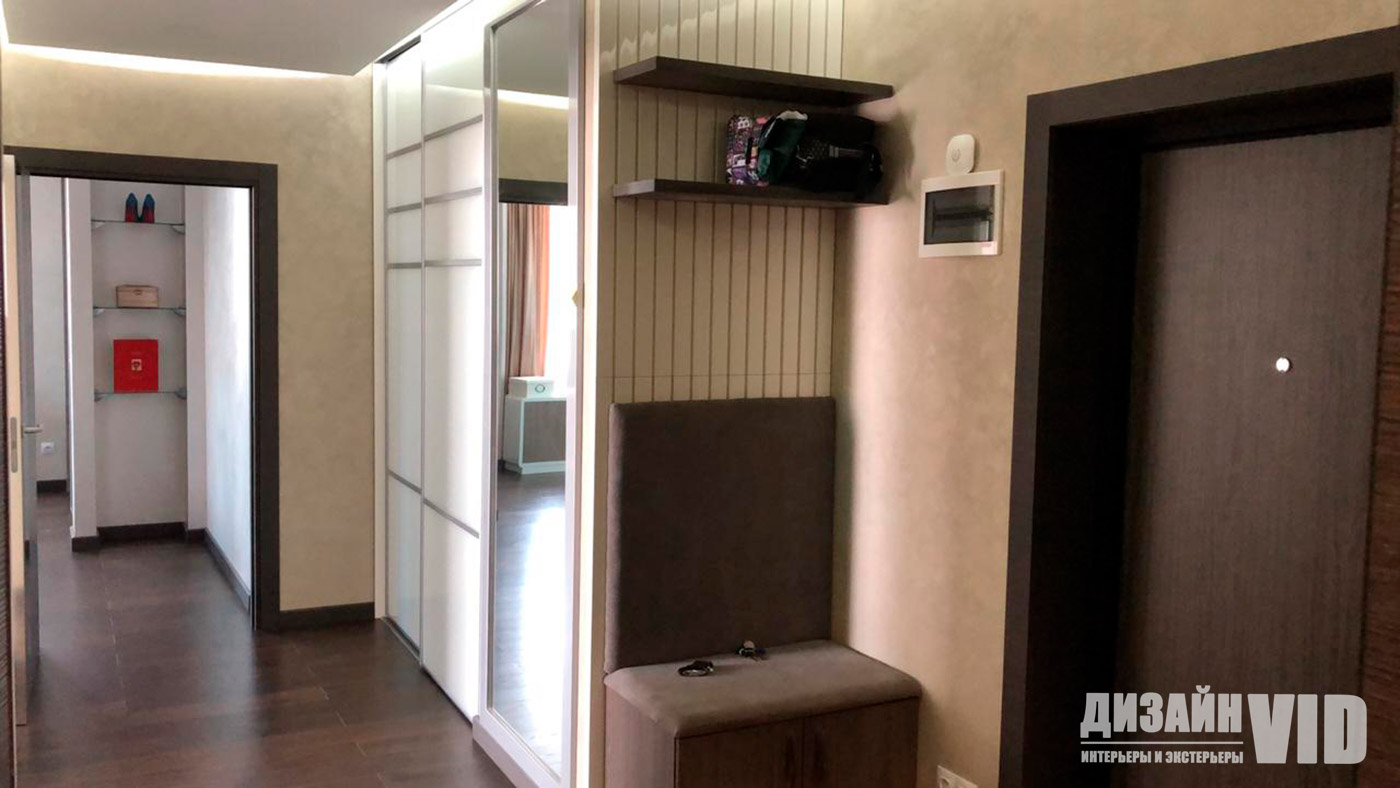реализованный ремонт коридора в квартире