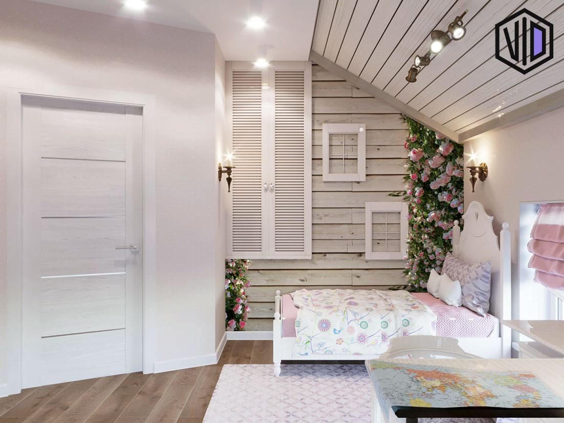 интерьер детской комнаты в стиле прованс для девочки