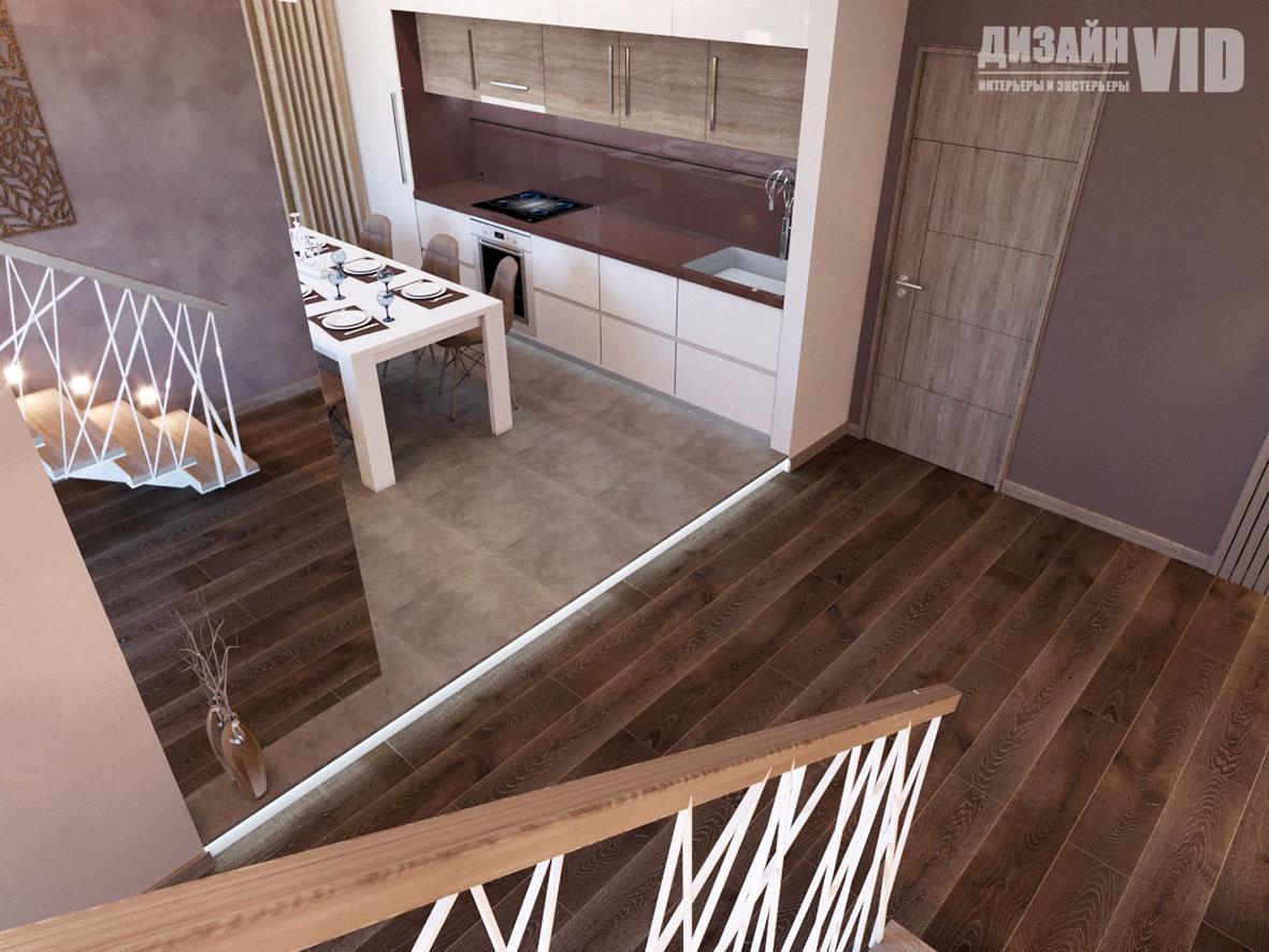дизайн интерьера открытой кухни