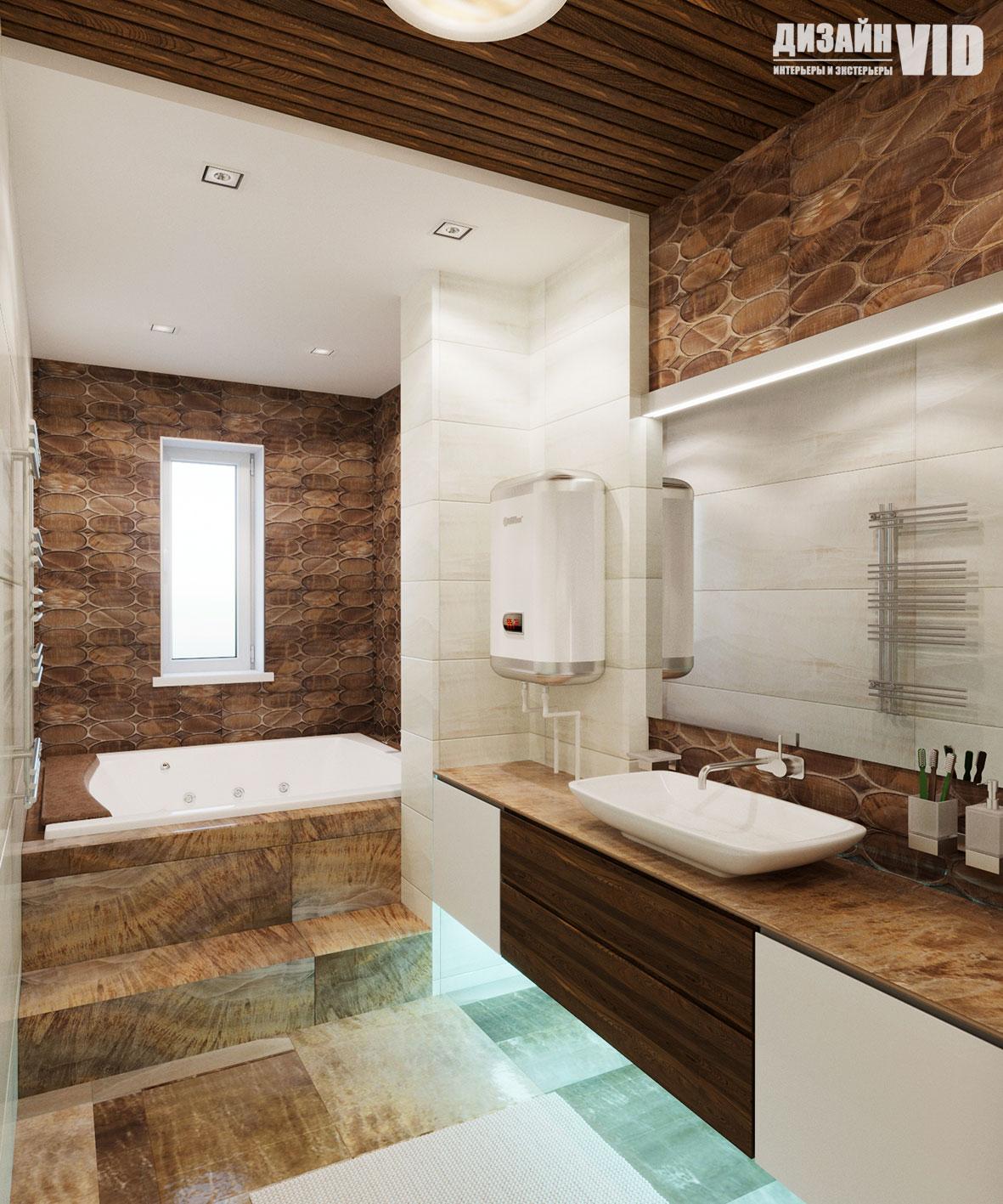 реечные потолки в интерьере ванной