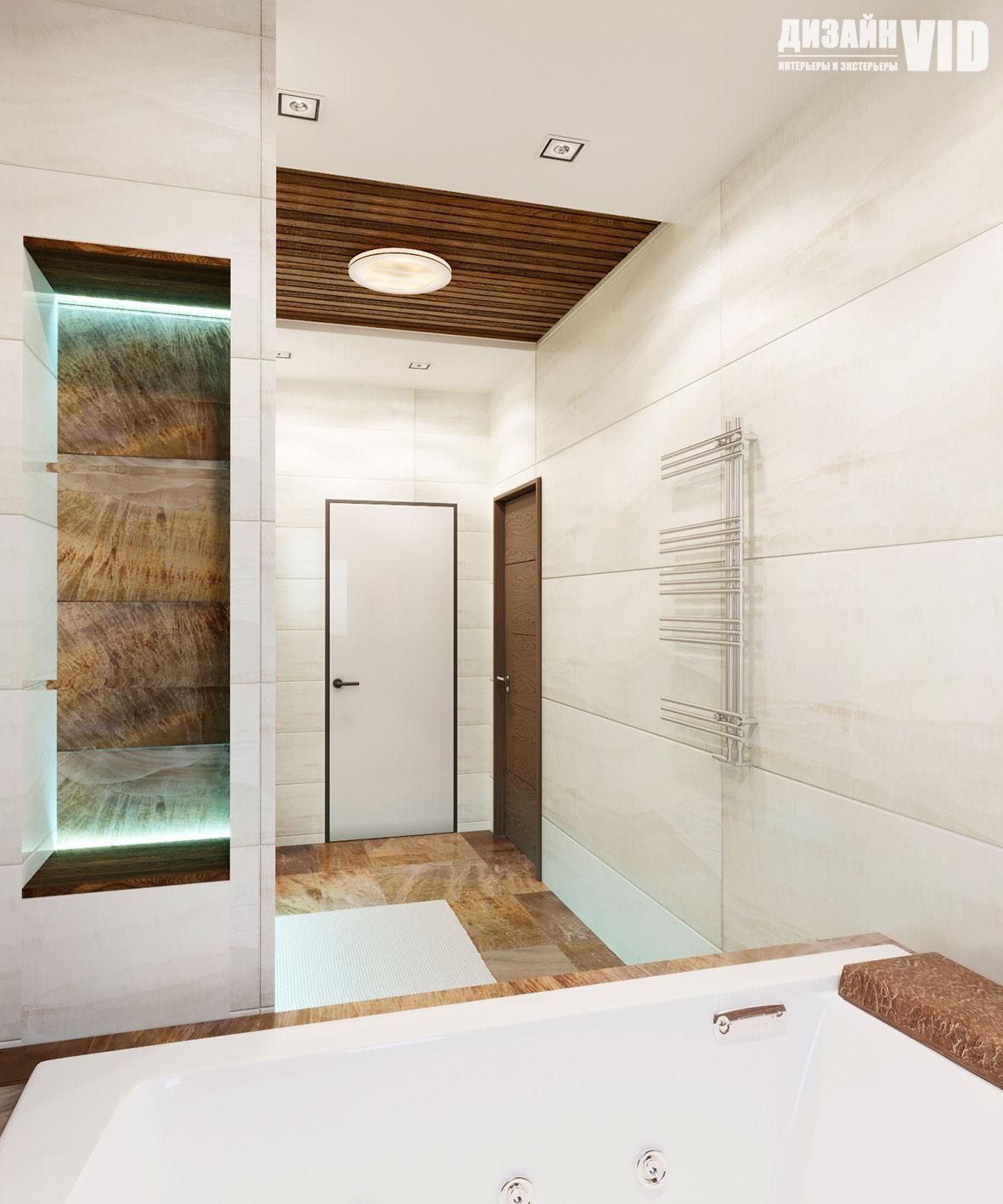 дизайн современной ванной комнаты в доме