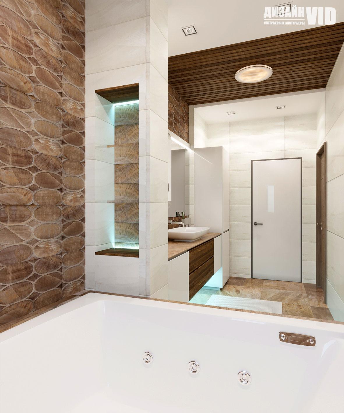 зонирование в интерьере ванной