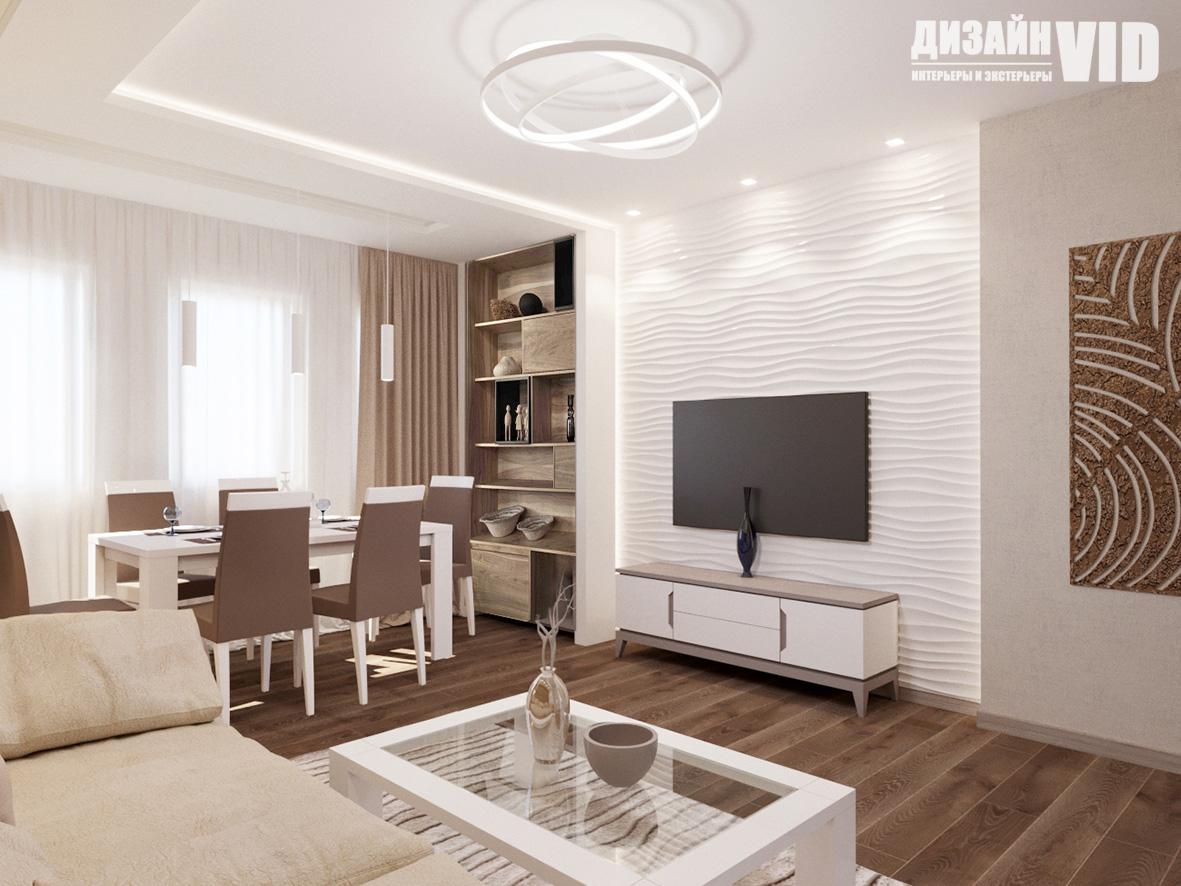 3d панель в интерьере гостиной