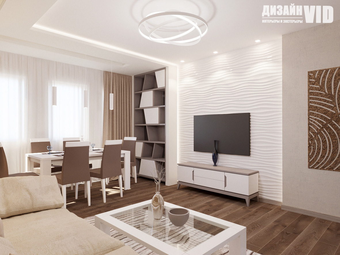 Дизайн гостиной в светлых цветах