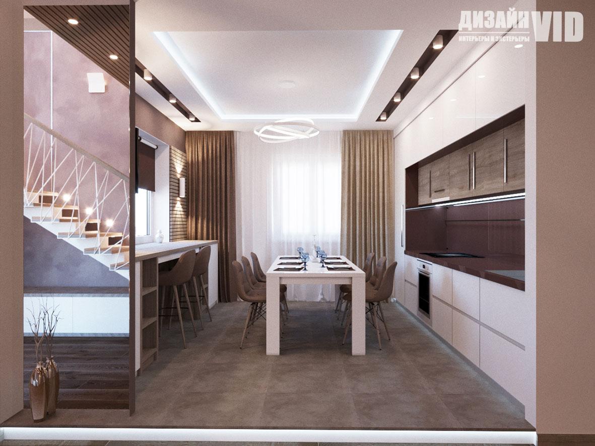 Дизайн современной открытой кухни