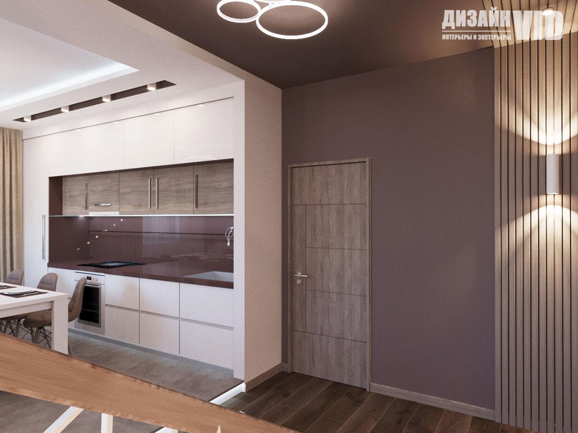 кухня встроенная в гипсокартонный короб