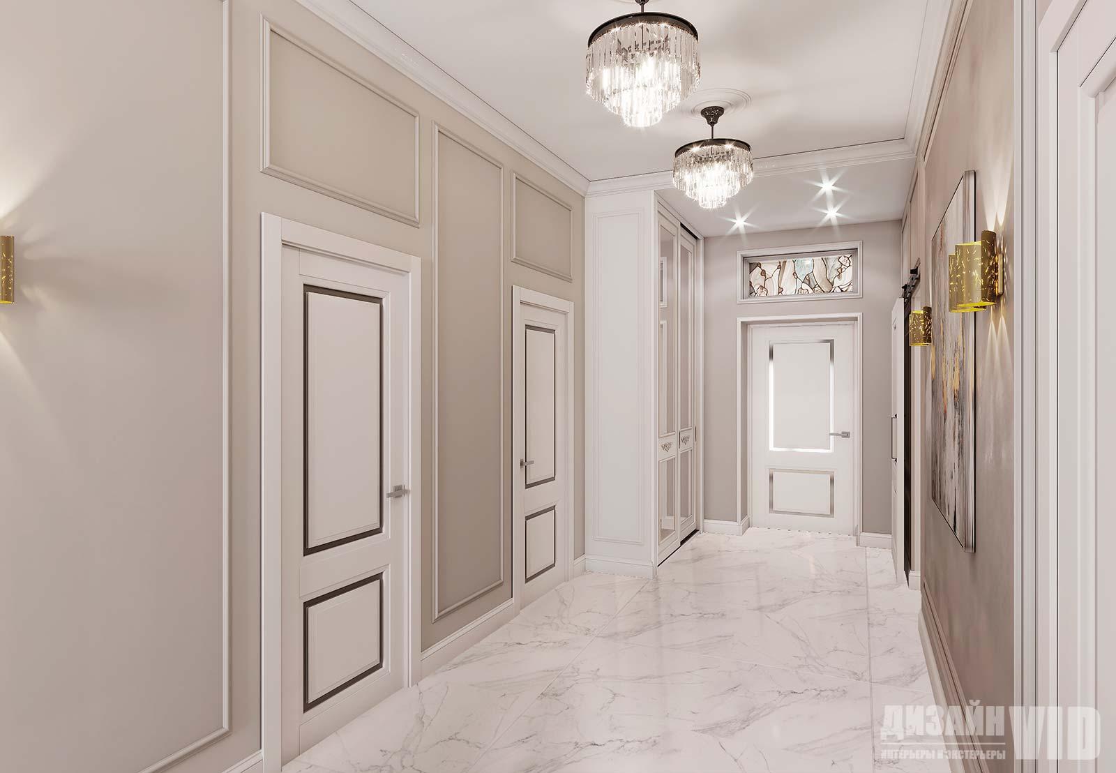 дизайн просторного холла частного дома