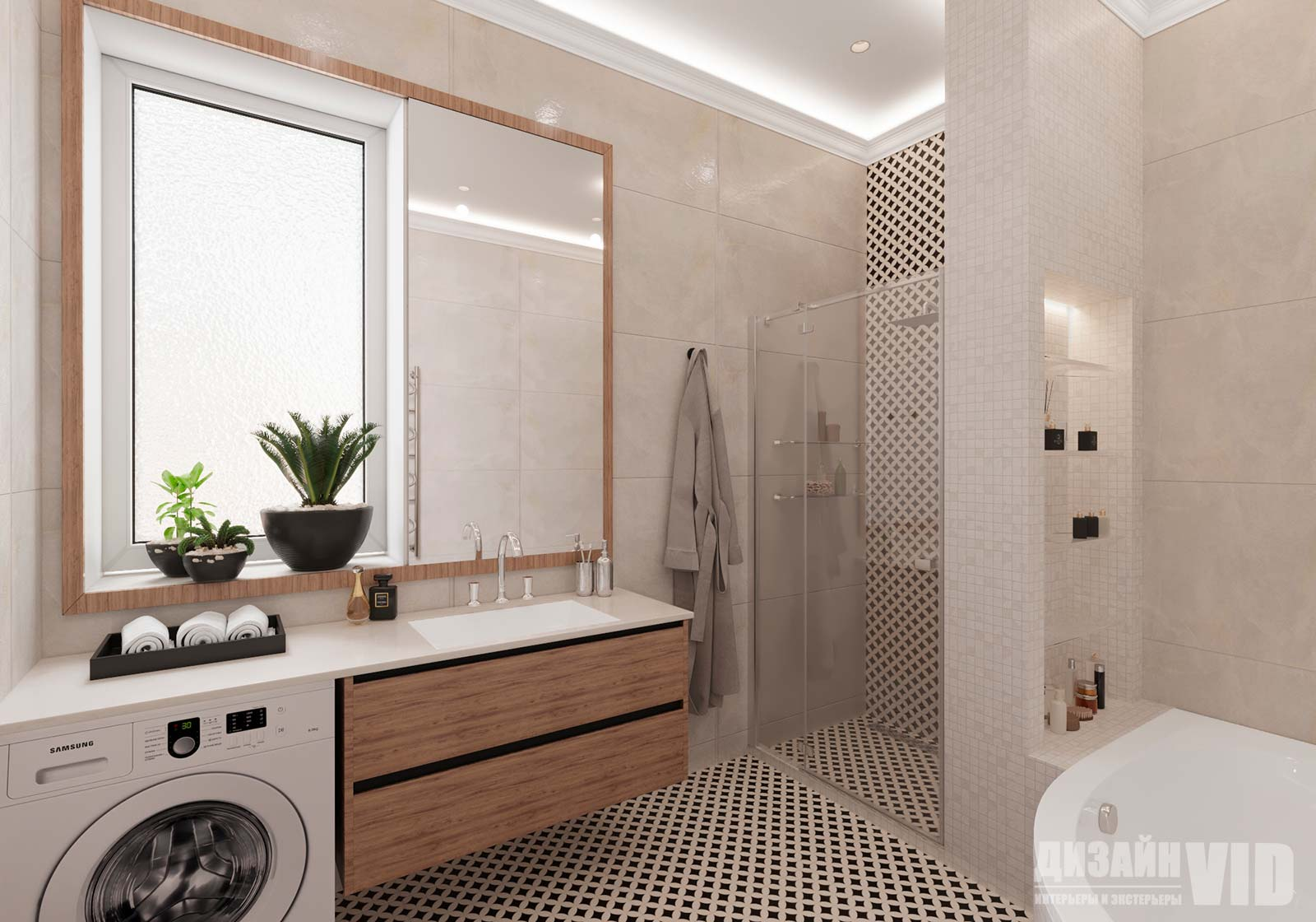ванная комната в частном доме, стиль неоклассика