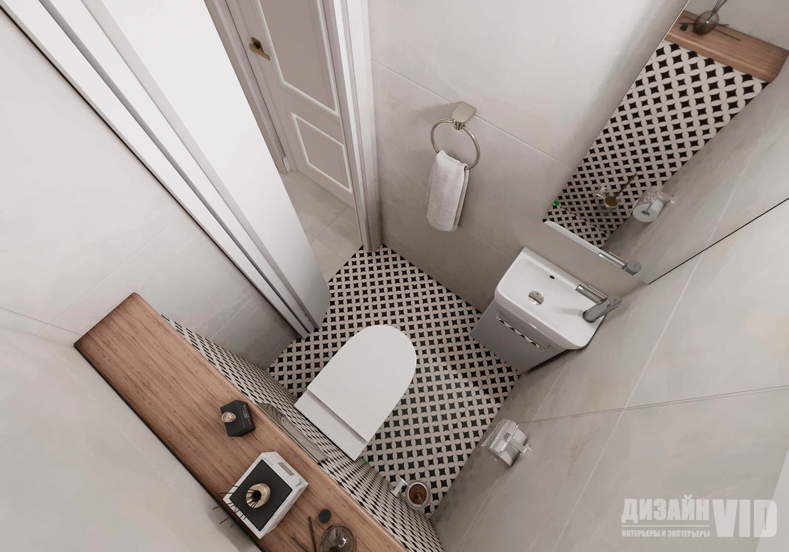 инсталляция в туалетной комнате
