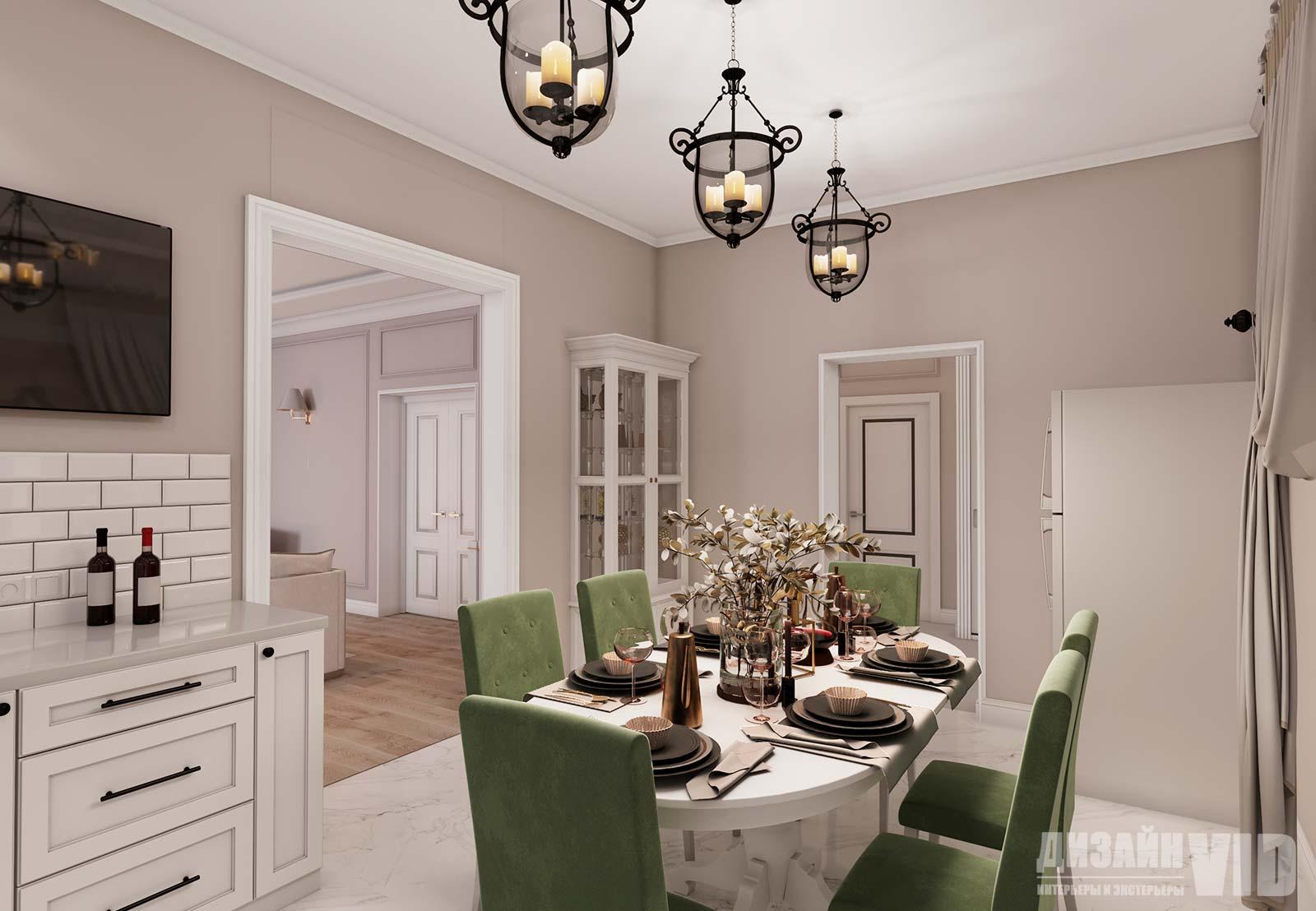 дизайн кухни в светлых терракотовых цветах