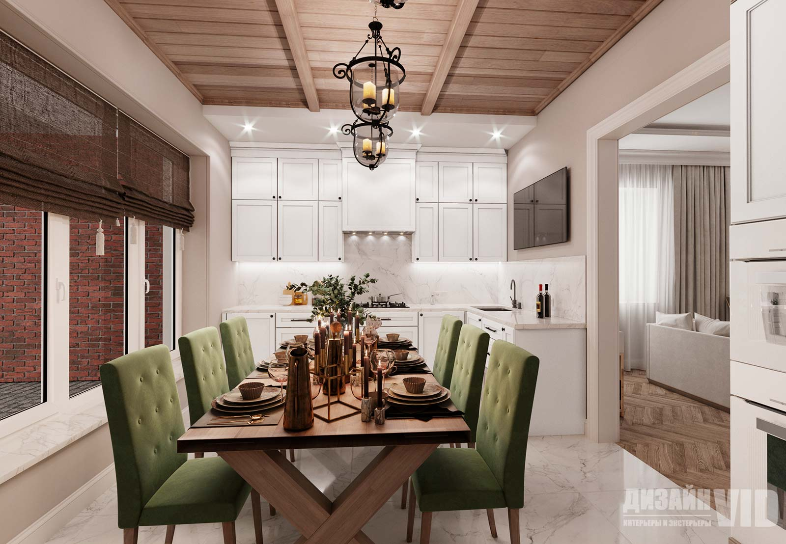 дизайн кухни с элементами стиля прованс