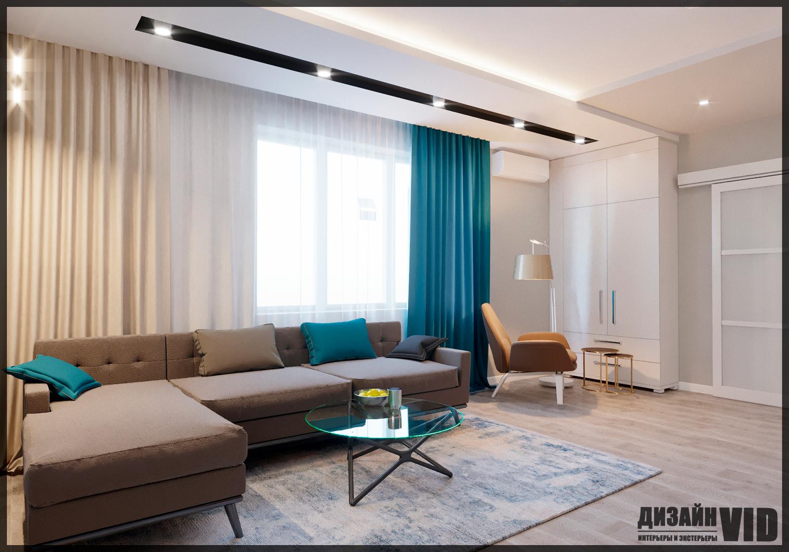 дизайн зоны дивана в гостиной
