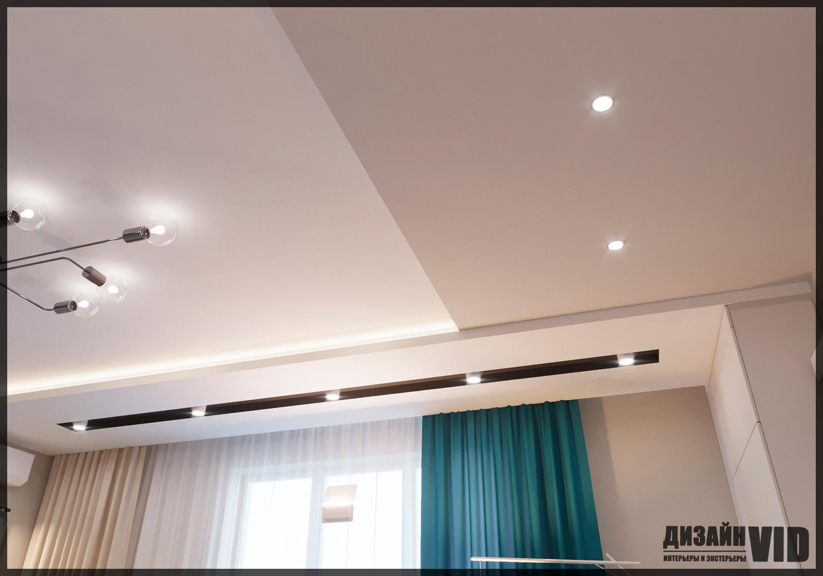 современный потолок из гипсокартона