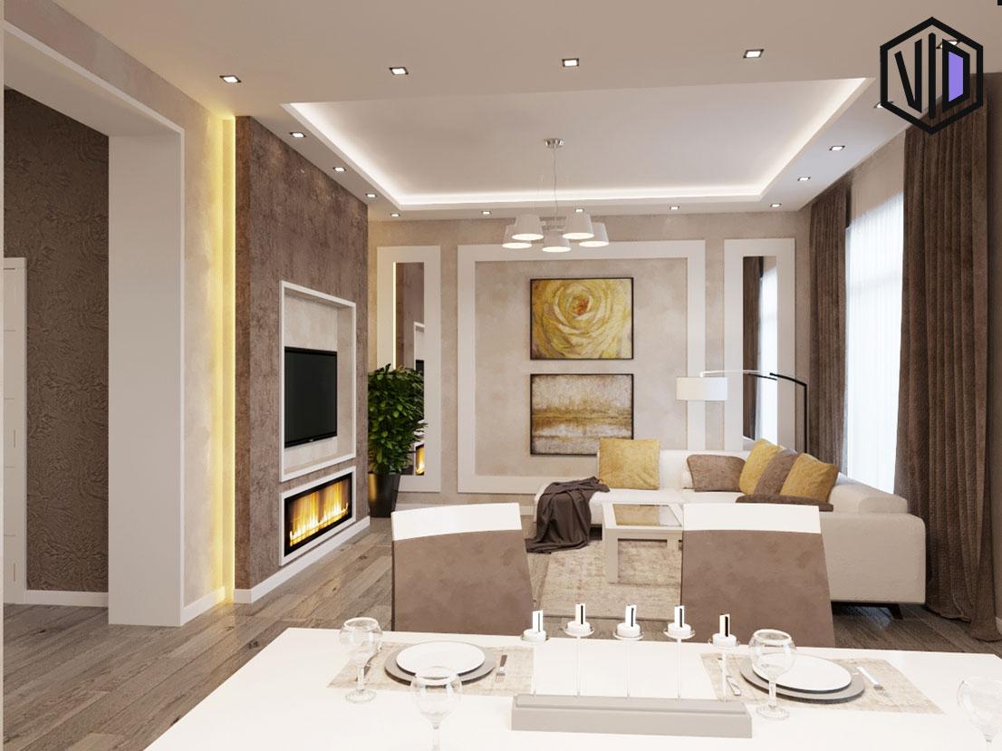 Дизайн гостиной в современном доме
