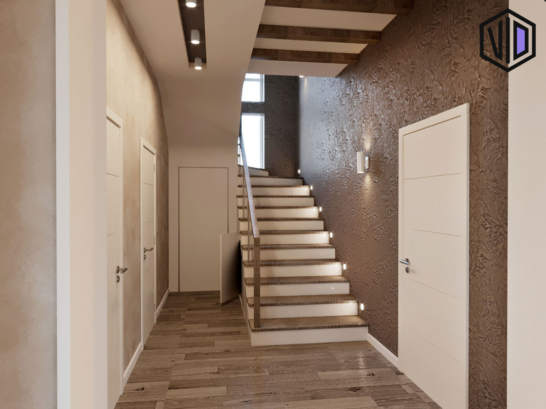 коридор частного дома