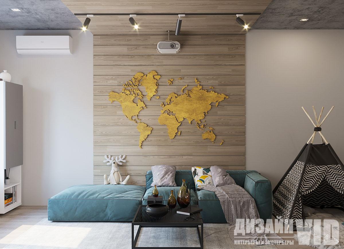 интерьер современной комнаты отдыха