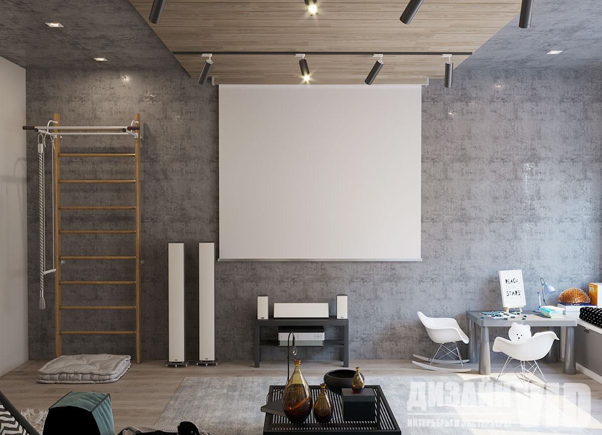 кинотеатр в комнате отдыха