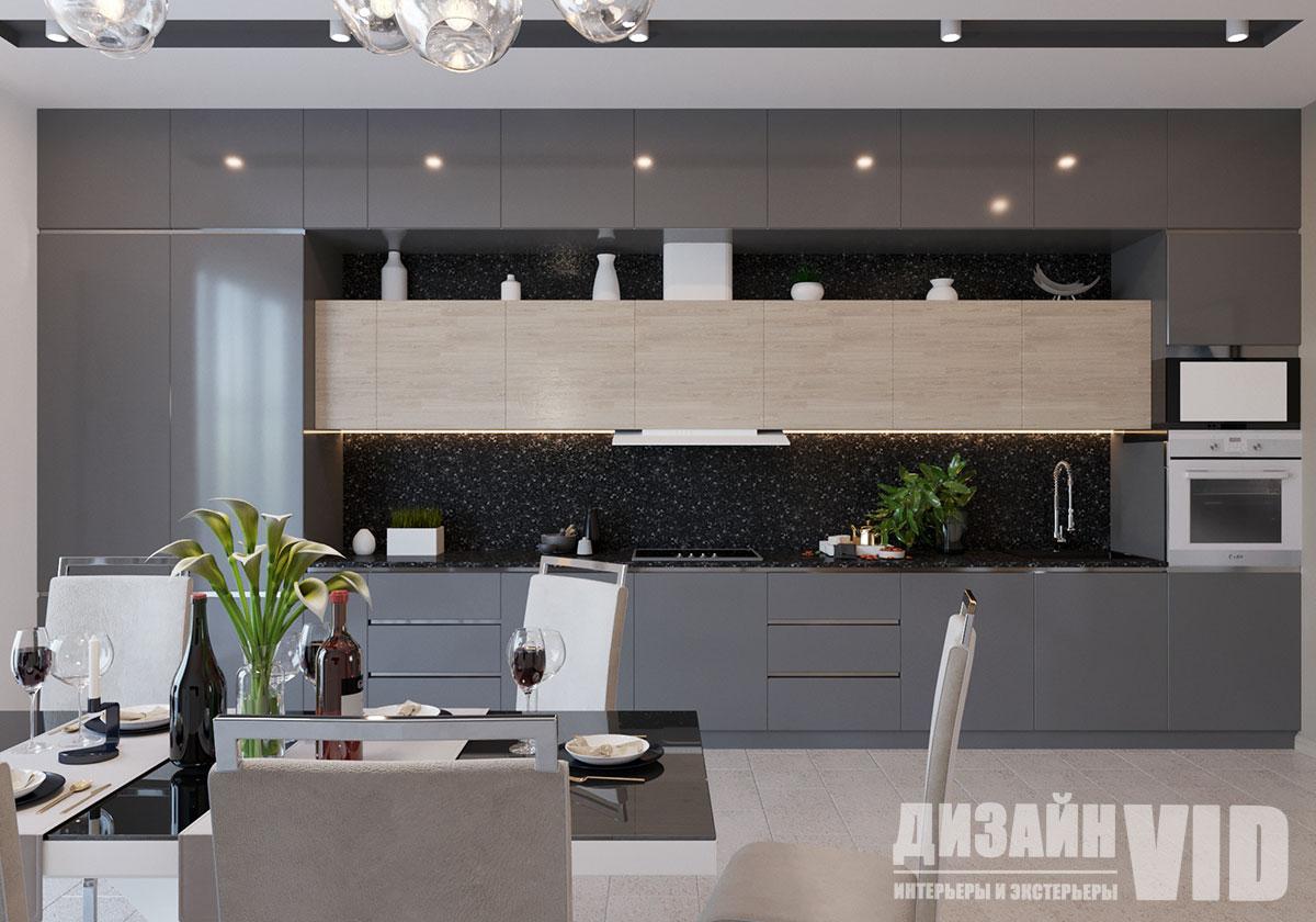 современная кухня в интерьере дома