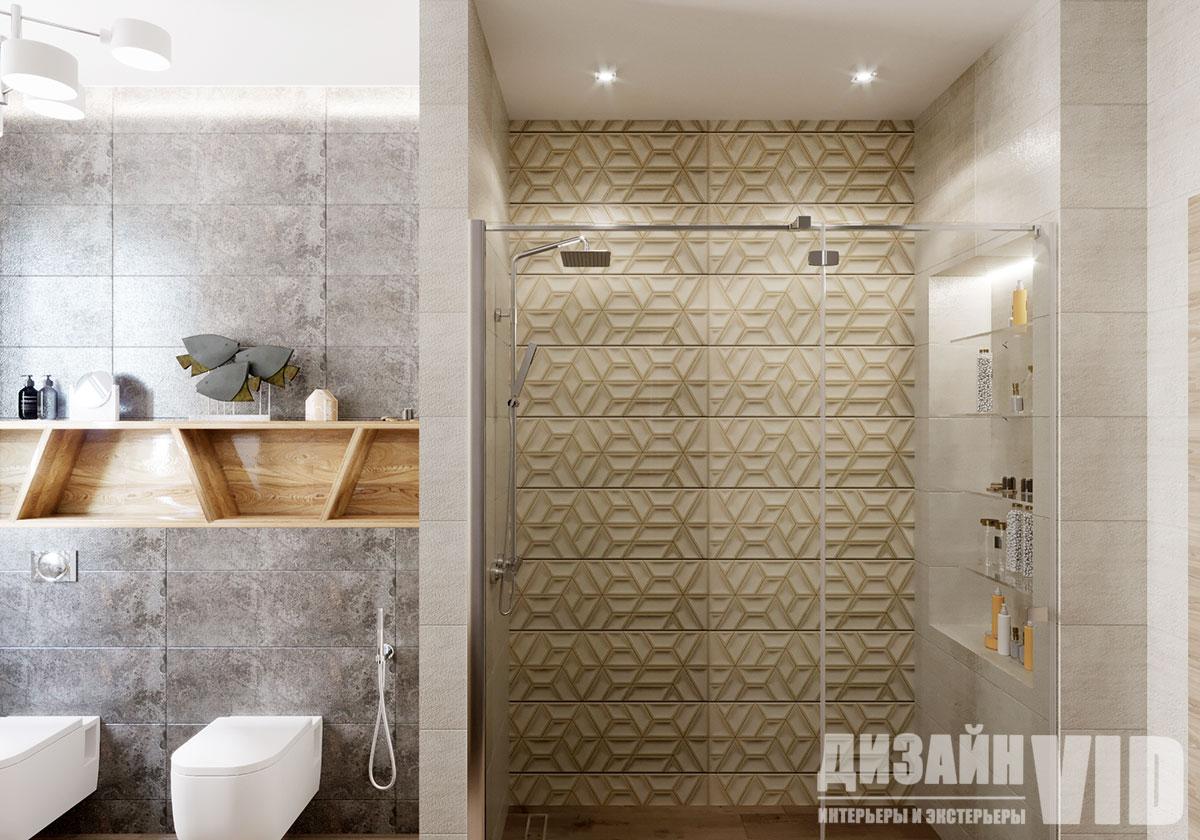 зонирование интерьера ванной комнаты