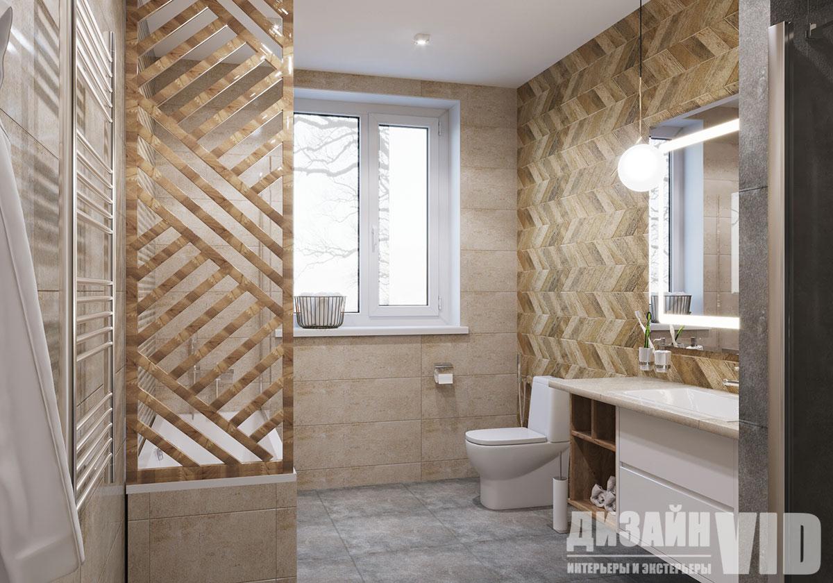 просторный интерьер ванной
