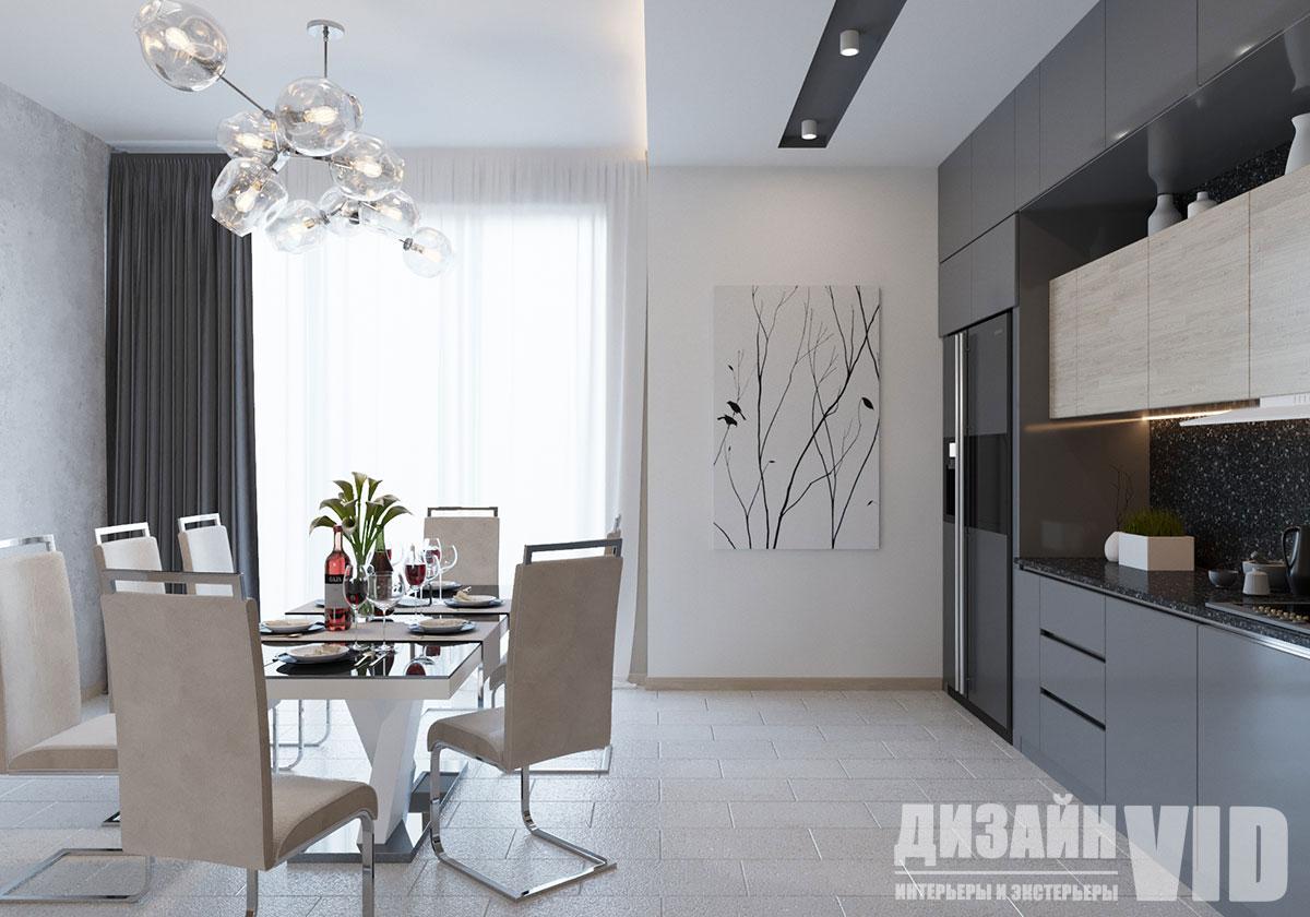 кухня в доме стиль лофт