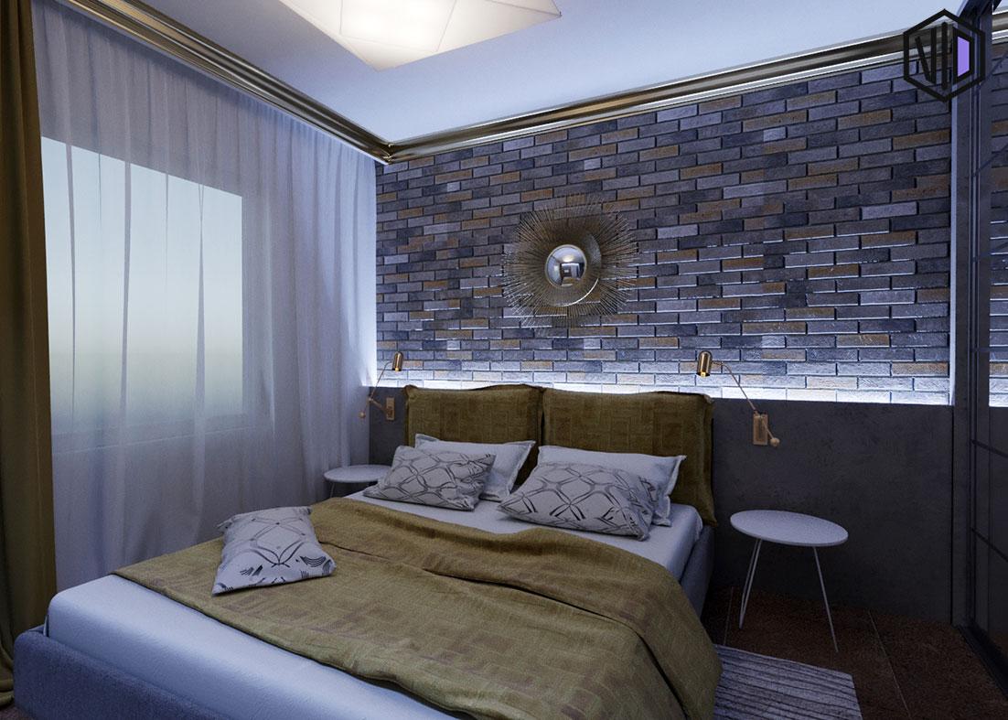 холодная светодиодная подсветка в спальне