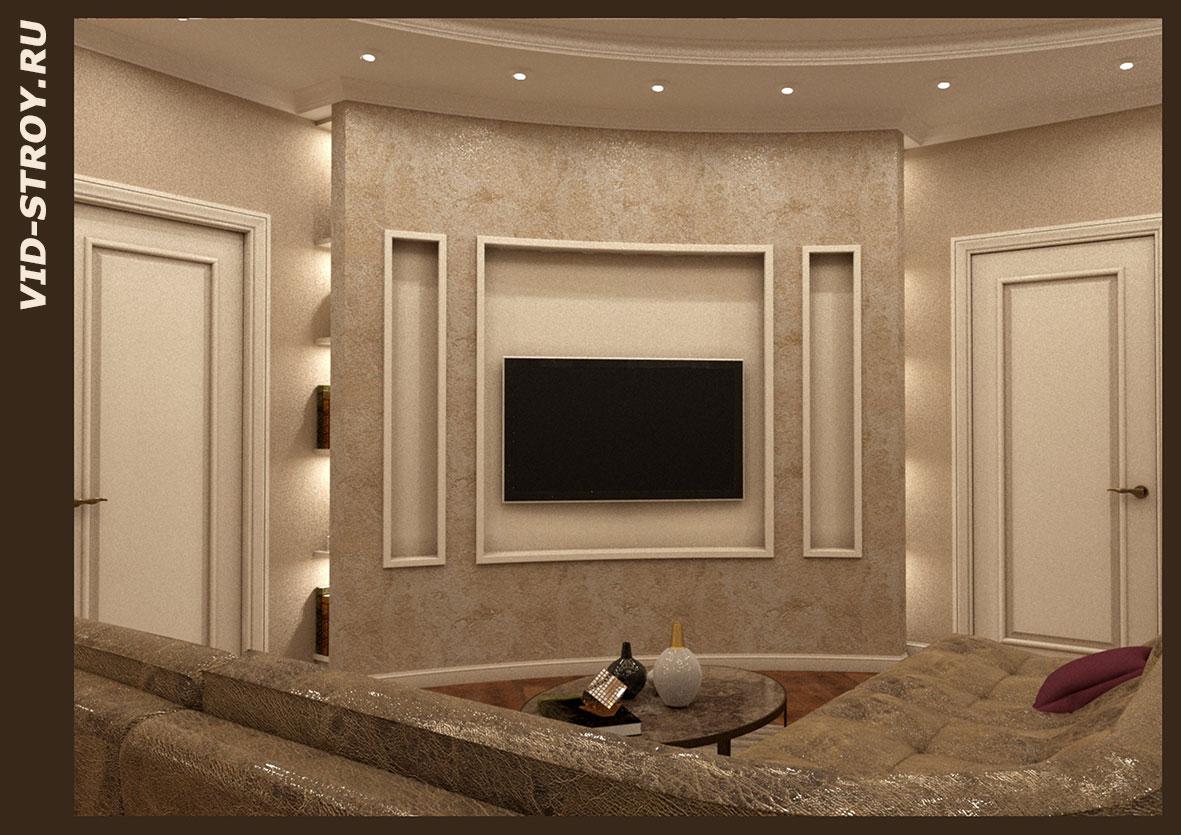 Интерьер квартиры с элементами классики